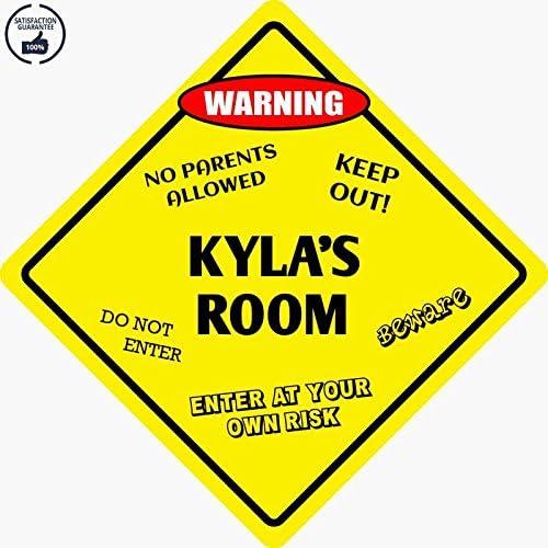 """*Aluminum* Kyla/'s Room Kids Room Door 12/""""x12/""""  Metal Novelty Sign"""