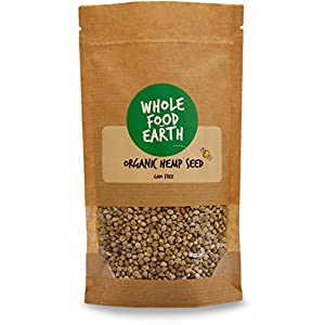 Wholefood Earth Organic Whole Hemp Seeds, 1 kg