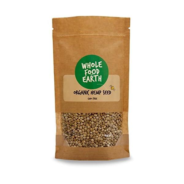 Wholefood Earth Organic Whole Hemp Seeds, 1 kg