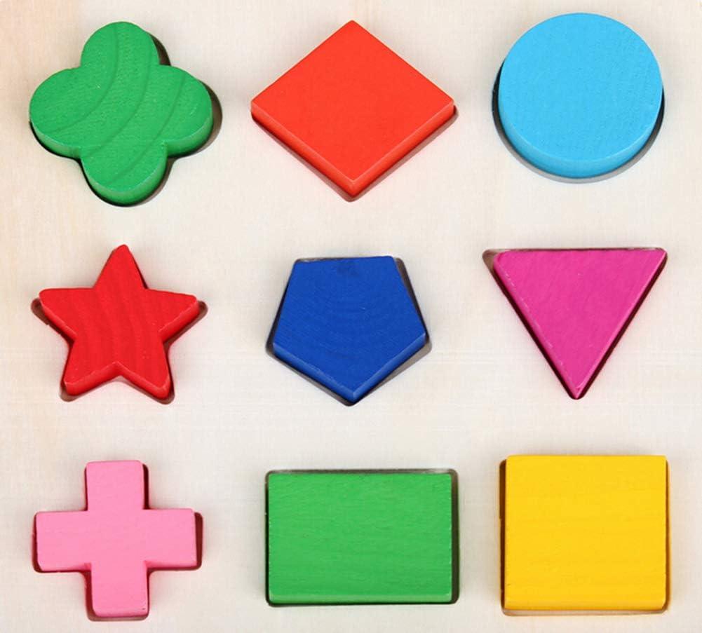 DaoRier Bambini Puzzle in legno Geometrie puzzle bambini giocattolo educativo gioco di ruolo