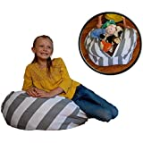 Stuffed Animal Storage Bean Bag Chair - No Beans About It - Clean up the Room and Put Those Critters to Work for You! - By Creative QT