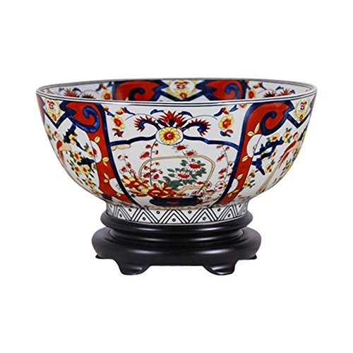 Beautiful Imari Style Porcelain Bowl with Stand 12