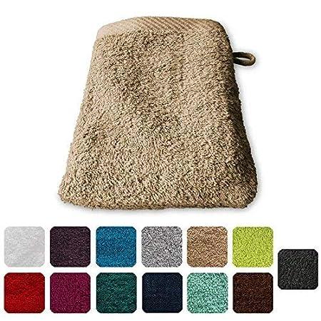 Lanudo® - Guanto da bagno di lusso, 600 g/m2, Pure Line, 21 x 15 cm 100% spugna di cotone di altissima qualità,  colori vari Pink 21 x 15 cm 100% spugna di cotone di altissima qualità