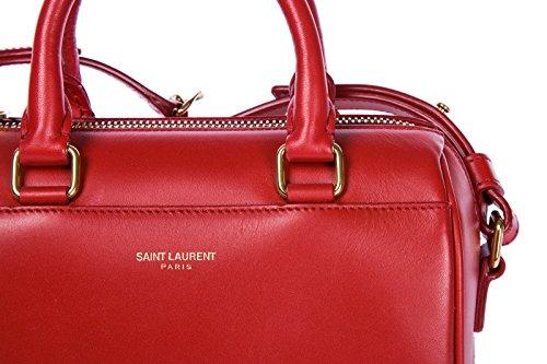 Saint Laurent borsa donna a tracolla pelle borsello rosso