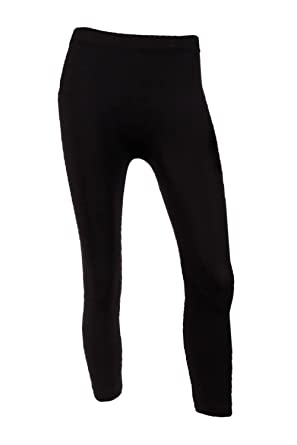 Sofra Women's Capri Calf Length Color Leggings-Black at Amazon ...