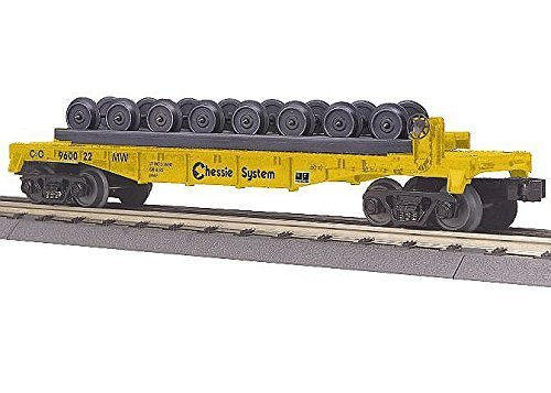 MTH Electric Trains Chessie Flat with Wheel Load