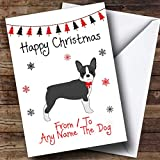 Boston terrier From Or To The Dog Pet Personalized Christmas Holiday