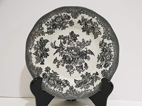 Johnson Brothers Black Asiatic Pheasant Earthenware Salad Plate Set of 2