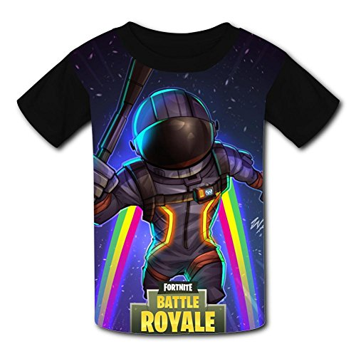 Youth Unisex Kids Fashion for-Tnite 3D Creative Tees Short Sleeve T-Shirts L ()