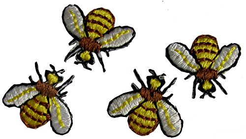 Bee Embroidered Bumble ([4 Count Set] Custom and Unique (5/8