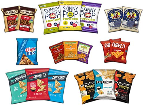Ultimate Snack Assortment Care Package - Chips, Crackers, Cookies, Nuts, Bars - School, Work, Military or Home (50 Pack) by Custom Treats (Image #1)