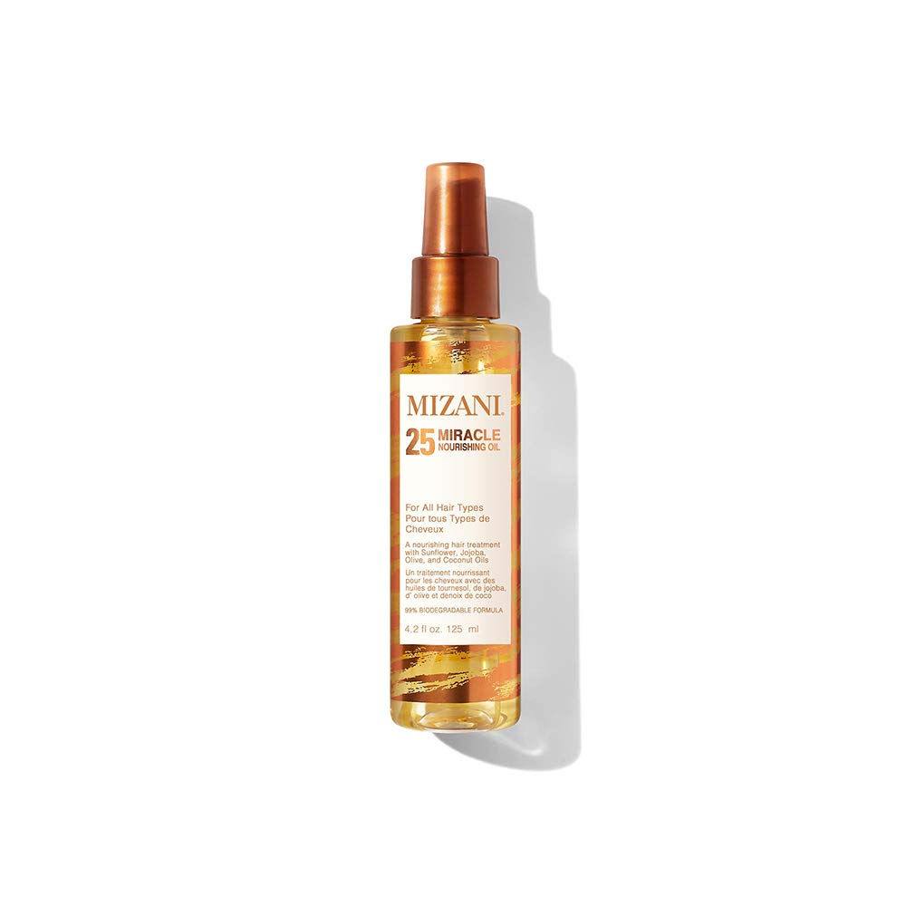 MIZANI 25 Miracle Nourishing Oil | Lightweight, Nourishing Hair Oil | With Coconut Oil | For All Hair Types | 4.2 Fl. Oz.