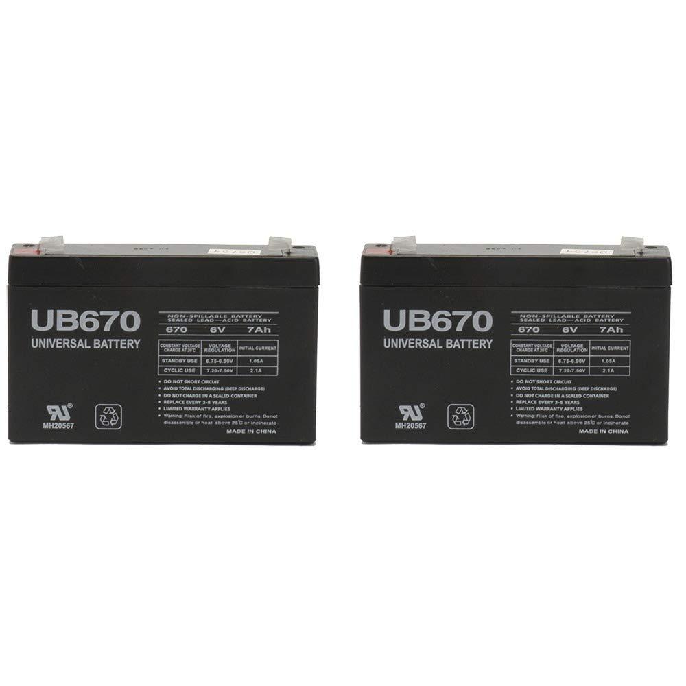 Universal Power Group 6V 7AH Replacement battery Razor Scream Machine - 2 Pack