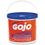 "GOJO GOJ629902EA FAST WIPES Hand Cleaning Towels Cloth 9"" x 10"" White 225/Bucket, White"