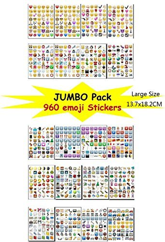 Bestag Emoji Sticker Pack-Instagram,Facebook,Twitter iPhone Emoji sticker,20sheets/pack- around 900+ Stickers