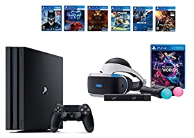 PlayStation VR Launch Bundle 8 Items:VR Launch Bundle,PlayStation 4 Pro 1TB,6 VR Game Disc Until Dawn: Rush of Blood,EVE: Valkyrie, Battlezone,Batman: Arkham VR,DriveClub,Battlezone Battlezone