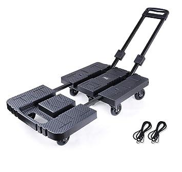 YWXLC Carretillas de Mano Trolley Equipaje Furgoneta Plegable Push-Pull portátil remolcador Compra en el hogar Carga Rey Carro Carro Carro Plegable: ...