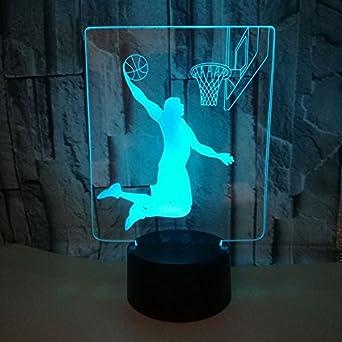 Basket Lampe Fusillade 3d Fissen D'illusion Au Led Optique bgf76y