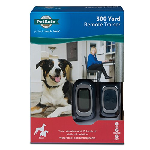 PetSafe 300 Yard Remote Trainer, Rechargeable, Waterproof, Tone / Vibration / 15 Levels of Static Stimulation for dogs over 8 lb. by PetSafe (Image #1)