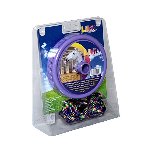 Likit Holder - Likit Holder Stable Toy With Treat, Purple