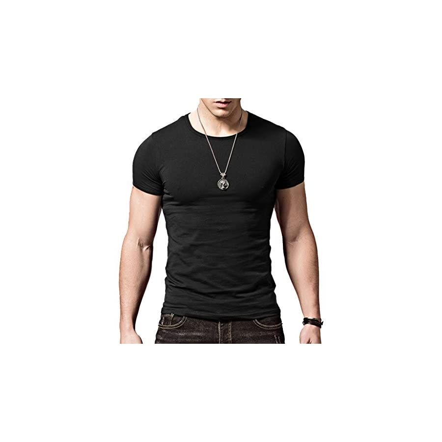 XShing Mens Slim Fit T Shirts Soft Short Sleeve Athletic Muscle Cotton Activewear