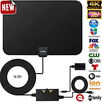Amazon com: HD Digital TV Antenna  60-95 Miles Range – Support 4K
