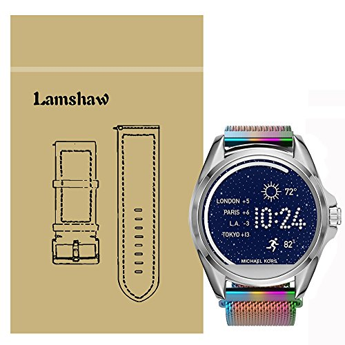 Lamshaw Milanese Magnetic Loop Stainless Stee Rplacement Straps for Michael Kors Smartwatch