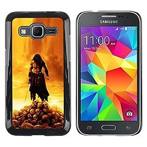 LECELL--Funda protectora / Cubierta / Piel For Samsung Galaxy Core Prime -- BARBARIAN GUERRA Jehová --