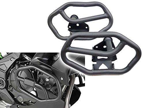 Motorcycle Flat Black Steel Engine Highway Crash Bar Guard Frame Protector Protection for 2015-2016 15-16 Kawasaki Versys 650