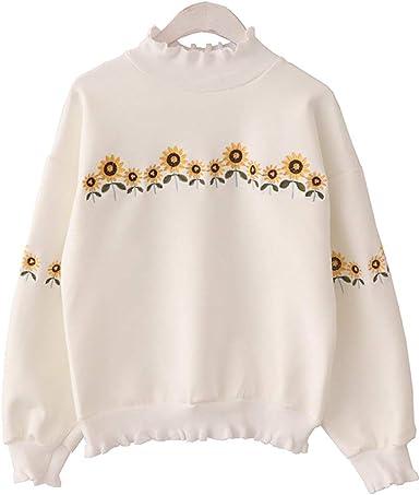 Sudaderas Mujer Otoño Invierno Bordadas De Flores Sweater ...
