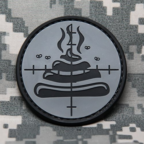 NEO Tactical Gear Shoot The Shit Funny PVC Rubber Tactical Military Morale Patch - Hook Backed