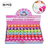 60 Pcs Assorted Stampers Kids - Birthday Party Favors, Make Your Own Greeting Cards Decorate Stationery