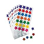 "Fun Express Basic Star Stickers (700 Star Stickers) 28 Assorted 1/2"" Star Stickers. 25 Sheets, Multi Color"