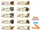 Think Thin Protein Bar,Variety Pack, 1 of Each (Pack of 10), BONUS !! 2 BAG CLIPS FREE