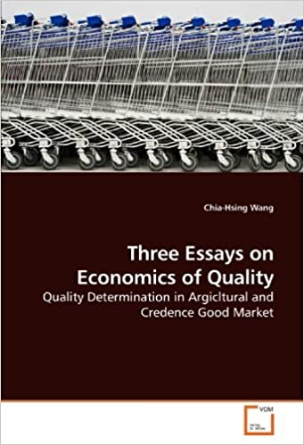 English Sample Essay Three Essays On Economics Of Quality Quality Determination In Argicltural  And Credence Good Market By Chiahsing Wang  Amazoncom Books Thesis Statement For Education Essay also Examples Of A Thesis Statement For An Essay Three Essays On Economics Of Quality Quality Determination In  Science Fair Essay