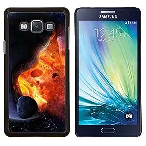 Caucho caso de Shell duro de la cubierta de accesorios de protección BY RAYDREAMMM - Samsung Galaxy A7 A7000 - Asteroide Exploding Estrella Sun Fire Universo Arte
