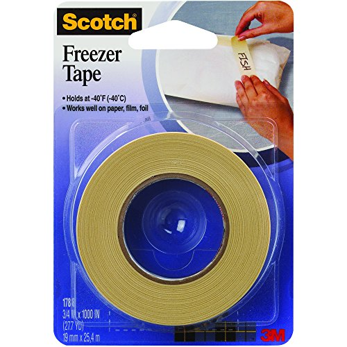 """Partners Brand PT934178 Natural 3M 178 Freezer Tape, 1000' Length, 0.75"""" Width (Pack of 24)"""