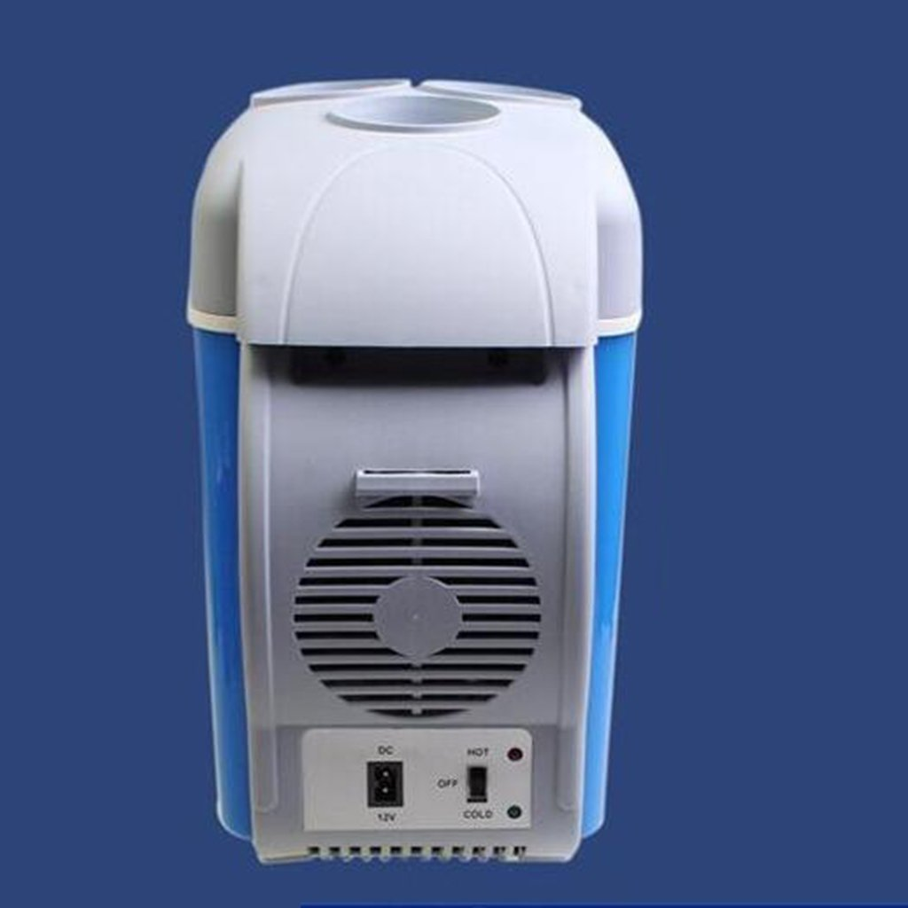 YI HOME- 7.5L Mini Refrigerator Car Horizontal Domestic Cooling Heating Dual-Use Small Freezer Dormitory Fridge Blue by YI HOME- (Image #2)