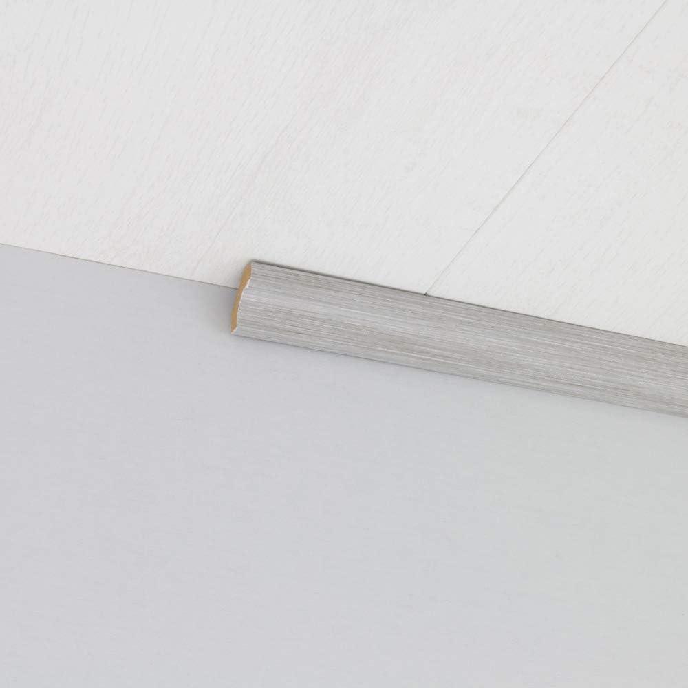 Hohlkehlleiste Abschlussleiste Abdeckleiste aus MDF in Allure Grau 2600 x 24 x 24 mm