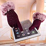 ZSBAYU Thermal Gloves, Women's Fleece Winter Warm