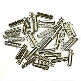 12/24/36/48 PCS Metal Aglets DIY Shoelaces Repair Shoe Lace Tips Replacement End (24PCS, Silver)