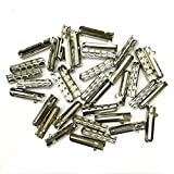 12/24/36/48 PCS Metal Aglets DIY Shoelaces Repair Shoe Lace Tips Replacement End (12PCS, Silver)