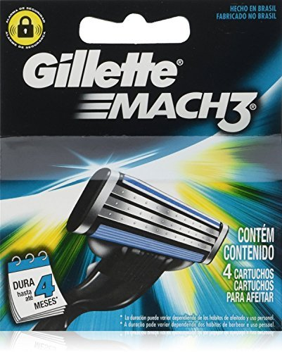 Gíllette Mach 3 Razor Refill Cartridges, 32Count (8 Pack, 4 Blades to a Pack)