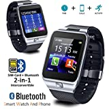 Indigi Universal Compatible (iOS & Android) GSM Wireless SmartWatch & Phone (2 in 1) w/ Built In Camera + Notifications