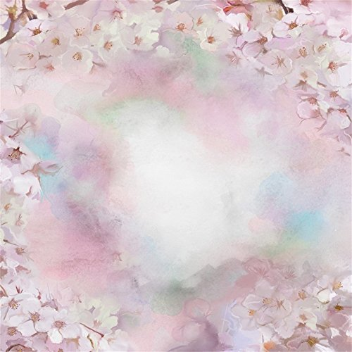 Leowefowa 5X5FT Vinyl Photography Backdrop Shabby Chic Blooming Pear Flowers Blurry Abstract Romatic Wallpaper Background Sweet Baby Kids Children Lover Photo Studio (Pear Drop Sweets)