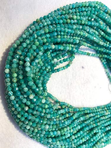 Super Quality Gemstone Beautiful Jewelry 25 Strand Amazonite faceted Round 3mm, AAA Gems Quality Strand, 14 Inch Strand Code-JP-6412   B07KDS4K5H