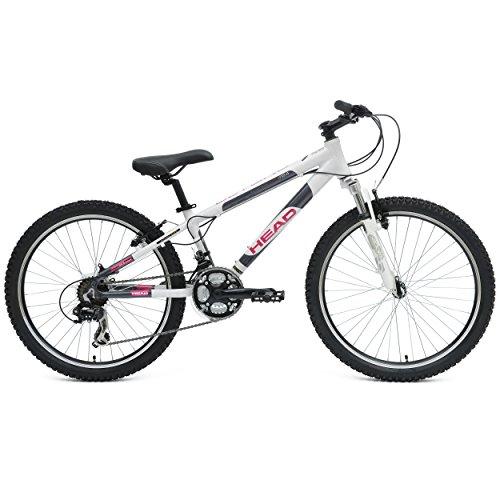Head Beyond Mountain Bike, 24 inch wheels, 12 inch frame, Girl's Bike, White with Pink