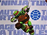 Teenage Mutant Ninja Turtles Heros (FLAT SHEET ONLY) Size TWIN Boys Girls Kids Bedding