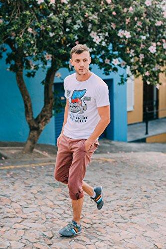 Freizeitschuh Turnschuh 42 Leder Farbe echtem Sneaker mit Herren LUVANNI Braun Grau Gr Htwq71x