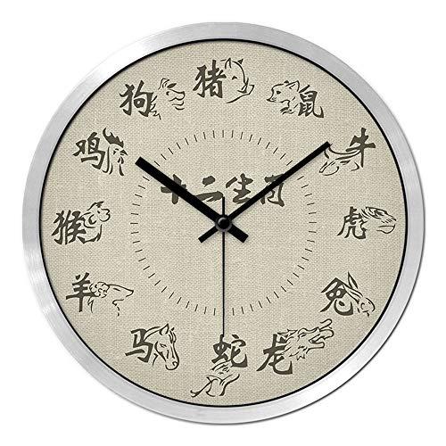 ffc257611 DALIANGE Wall Clock The Chinese Zodiac Clock 12 Animals of The Chinese Wall  Clock Wall Clocks